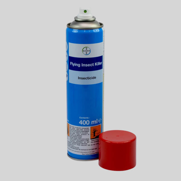 bayer flying insect killer 400ml cap off