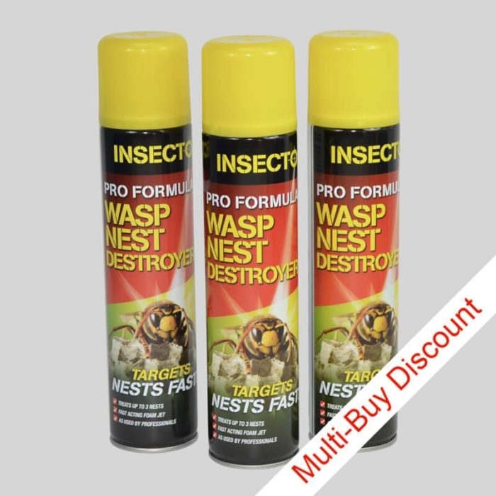3 cans of insecto wasp nest destroyer