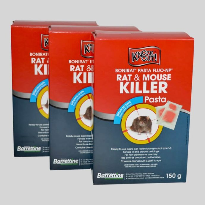 Pasta bait for controlling rats and mice