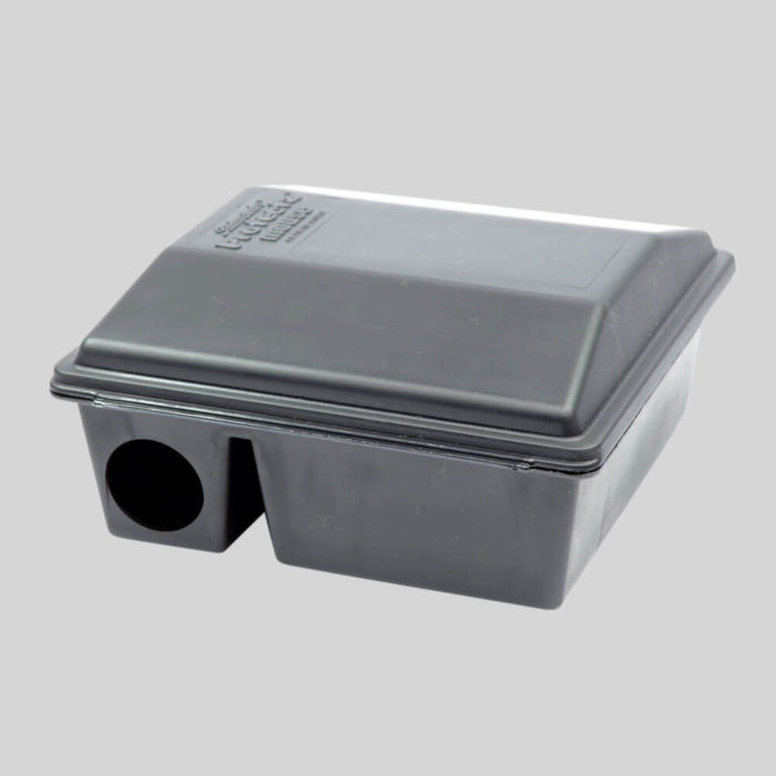 side view of protecta mouse bait box