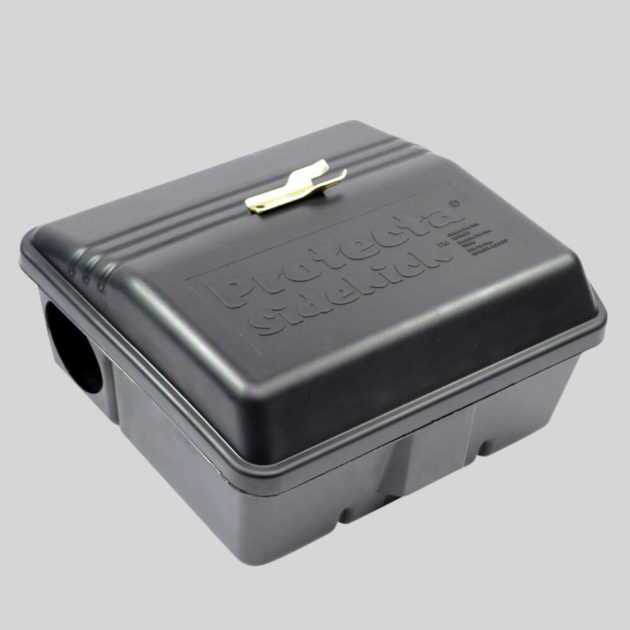 Protecta Sidekick Rat Bait Box holds block and grain bait