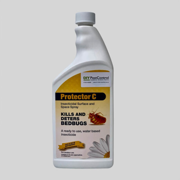 protector c bed bug spray lid on
