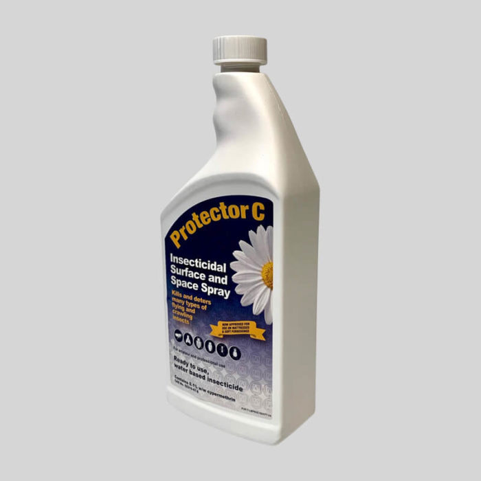 protector c insecticidal spray lid on