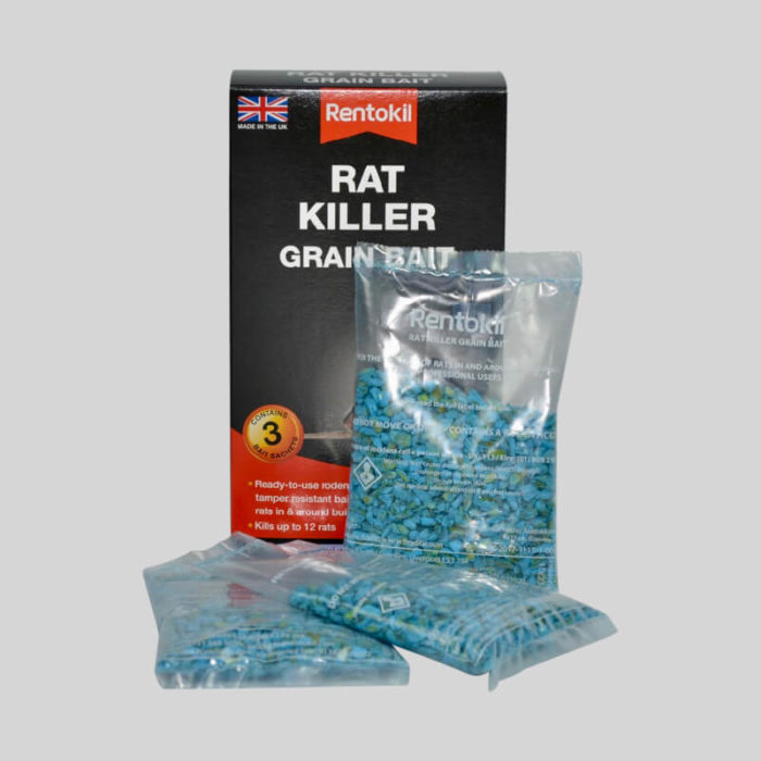 rentokil rat killer grain bait box and sachets