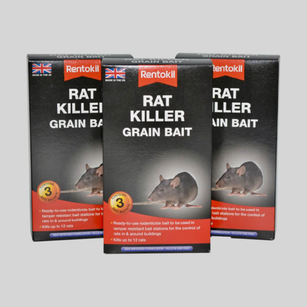 Rentokil Rat Poison grain bait in sachets