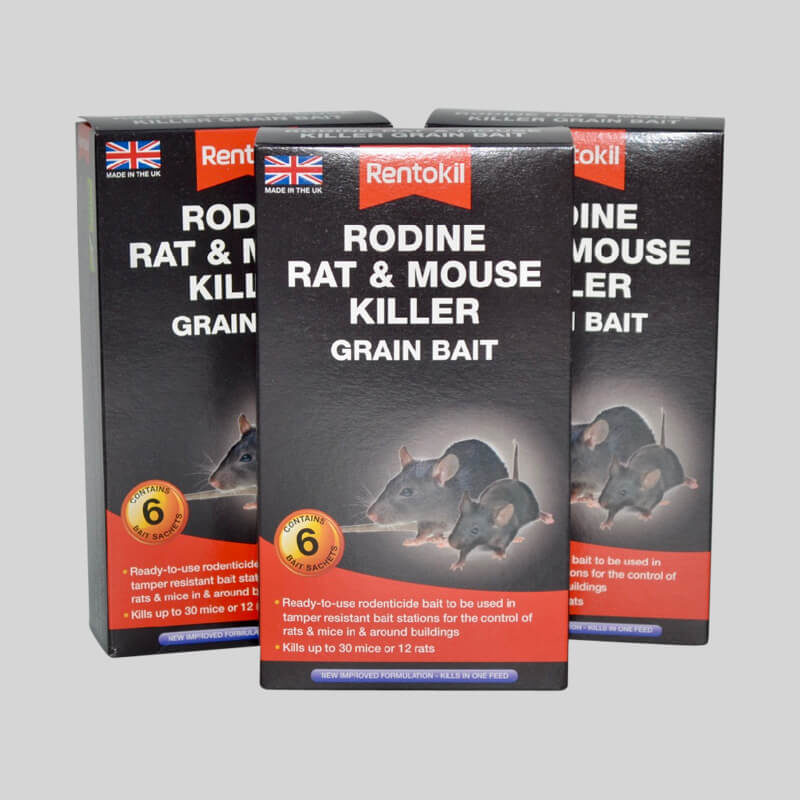 Rentokil Rodine Rat and Mouse Poison Grain Sachets