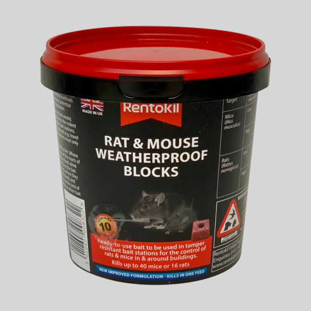 Rentokil rat and mouse weatherproof blocks