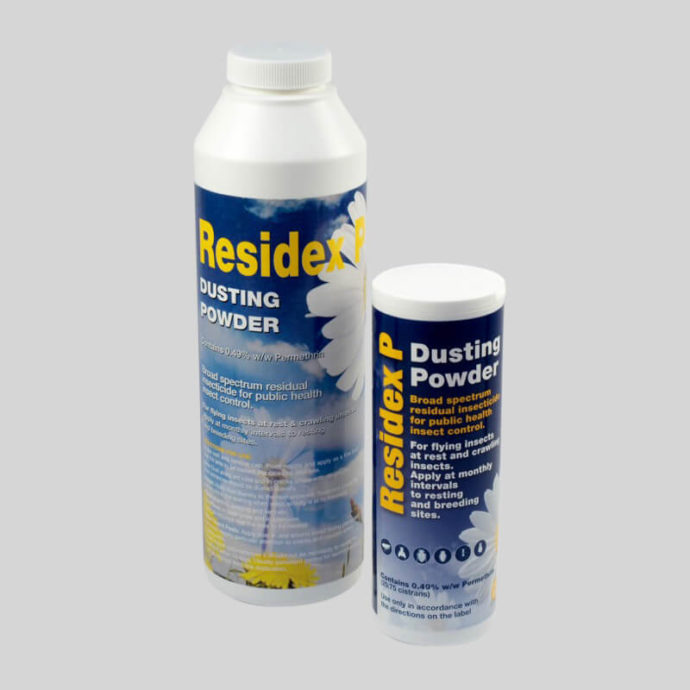 Insecticidal dust for crawling insects