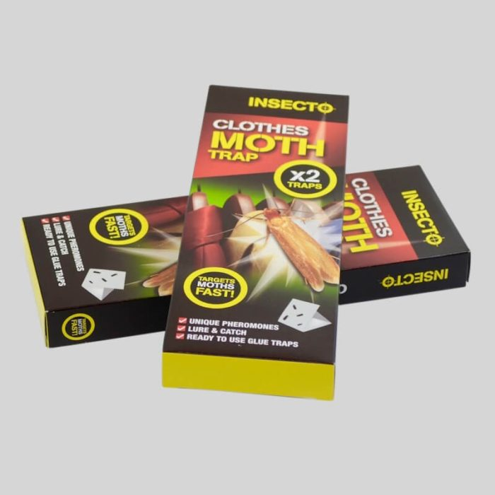 2 packs of insecto clothes moth traos